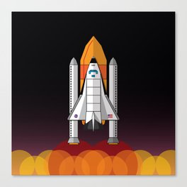 Space Shuttle night launch Canvas Print