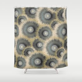 Spiked Wheels Shower Curtain