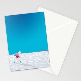 Llama on the Bolivia Salt Flats, Salar de Uyuni Stationery Cards