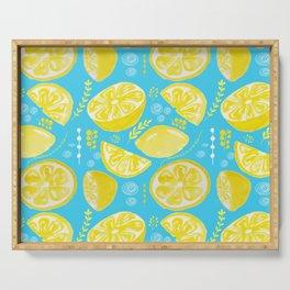 Lemon Burst Serving Tray