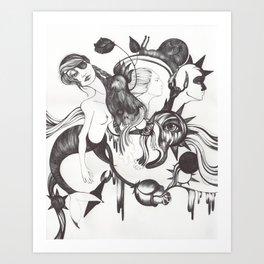 Retrato de Sirena Art Print
