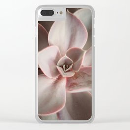 Pink Echeveria #4 Clear iPhone Case