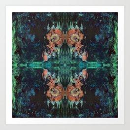 Green Lotus Art Print