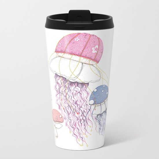 Jelly Shrooms Metal Travel Mug