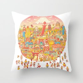 LOVE JAPAN Throw Pillow