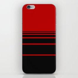 Red & Black iPhone Skin