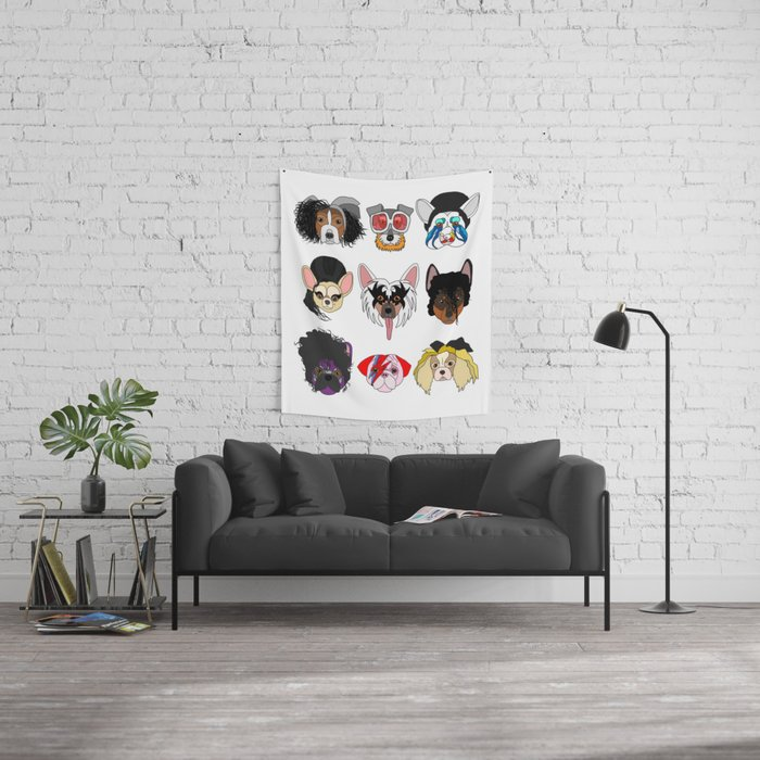 Pop Dogs Wall Tapestry
