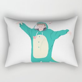 Jimin the Dinosaur Rectangular Pillow