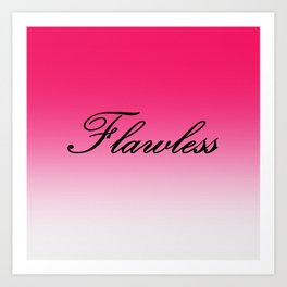 FlawleSS Pink Ombre Art Print