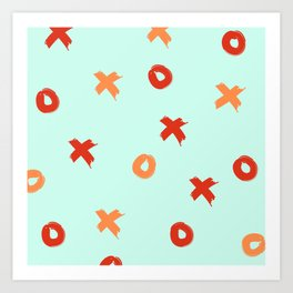 XOXO Love // Nautical Color Schemem Art Print