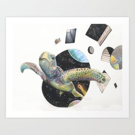 Space Turtle Art Print