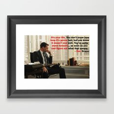 Wise Words from Don Draper Framed Art Print