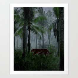 Tiger by Create_D Art Print