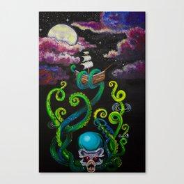 Doomed Seas Kraken Canvas Print