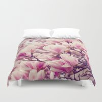 magnolia Duvet Covers featuring Magnolia by Juste Pixx Photography