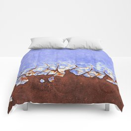 Rust and Blue Comforters