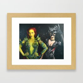 Poison Ivy and Catwoman TAKE OVER Framed Art Print