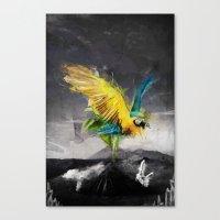 parrot Canvas Prints featuring Parrot by Elias Klingén