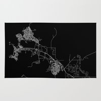 darwin Area & Throw Rugs featuring Darwin map Australia by Line Line Lines