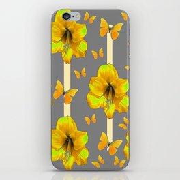 "AMARYLLIS ""  LOVE OF BUTTERFLIES""   DECO iPhone Skin"