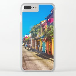Traditional Street in Cartagena de Indias, Colombia Clear iPhone Case