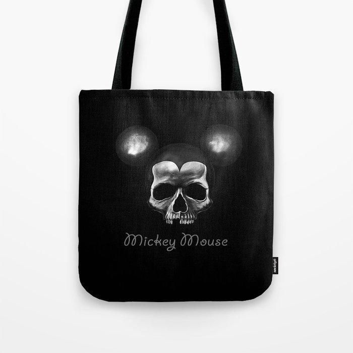 Mickey mouse skull  Tote Bag