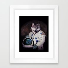 Wolfy goes to Mars Framed Art Print