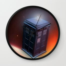 Tardis Police Public Call Box Wall Clock