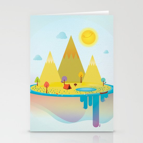 Camping Outdoors Stationery Cards