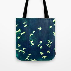 Retro Birds Tote Bag