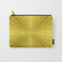 Gold geometry abstract glitter, sun rays geometric shapes Carry-All Pouch