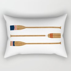 American Painted Oars Rectangular Pillow