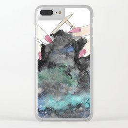 Knitting Space II Clear iPhone Case