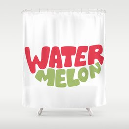 Watermelon Typography Shower Curtain