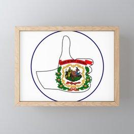Thumbs Up West Virginia Framed Mini Art Print