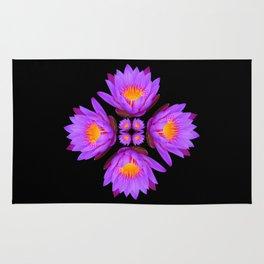 Purple Lily Flower - On Black Rug
