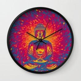 Crystal Buddha Wall Clock