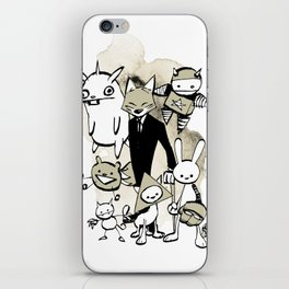 minima - dapper fox iPhone Skin