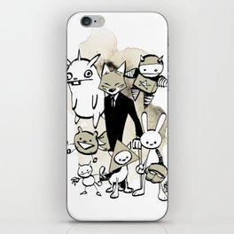 minima - dapper fox iPhone Skin