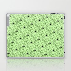 Cryptid Pattern: Black on Green Laptop & iPad Skin