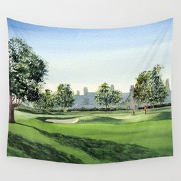 Winged Foot Golf Course New York Wall Tapestry