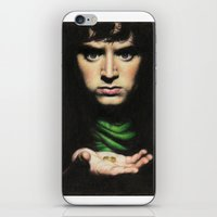 lord of the rings iPhone & iPod Skins featuring Frodo - Lord of the Rings by Hilary Rodzik