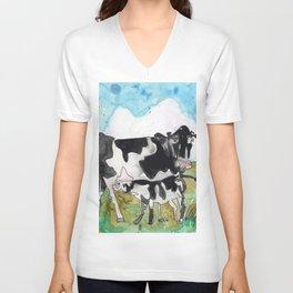 Cow Mommy Unisex V-Neck