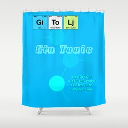 Gin Tonic Shower Curtain