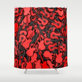 Just guitars Shower Curtain