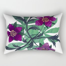Chilled Winter Hellebores Rectangular Pillow