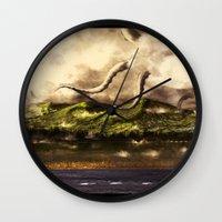 kraken Wall Clocks featuring Kraken by Ryky