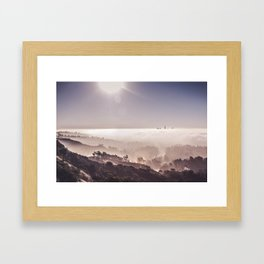 Above The Clouds | Los Angeles Framed Art Print