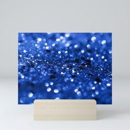 Blue Lady Glitter #1 #shiny #decor #art #society6 Mini Art Print