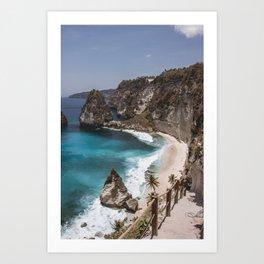 What a beach Art Print